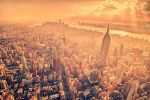 A Birds Eye View Above Manhattan by Matthias-Haker