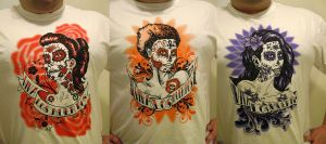 Day of the Dead Girls T-shirts by rawjawbone