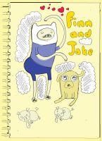 finn and jake sketch by Lucora