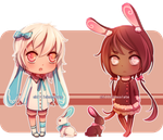 [PENDING] Chocolate bunny adopts by chillichocolate