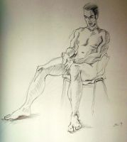 Life Drawing 1 by Bendragonx