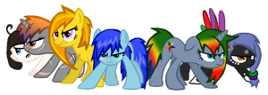 Six Of My Newest OCs by Skittles91k