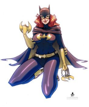 BATGIRL with Sykomanyak by jasinmartin