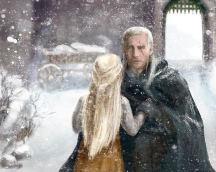 Geralt and Ciri by Ainaven