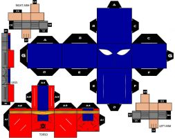 Cubeecraft Atom Smasher DC Super Heroes by handita2006