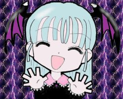 Morrigan Chibi by aioria22