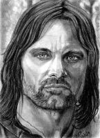 Aragorn Sketch Card 2011 by khinson