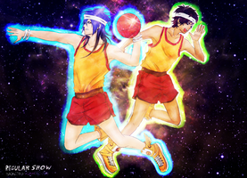Slam Dunk / Juego Celestial - Regular Show - by KiraiRei