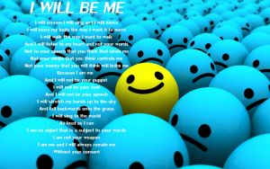I will be ME by just-say-hi