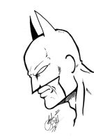 Batman Quick Sketch by gwdill