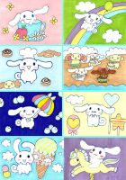 Cinnamoroll Sketch Cards by chibimonkies