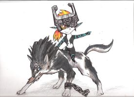 Midna and Wolf Link by whitetigerclaws