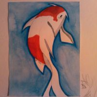 Koi fish watercolor -Finished- by xXNobodiesTearsXx