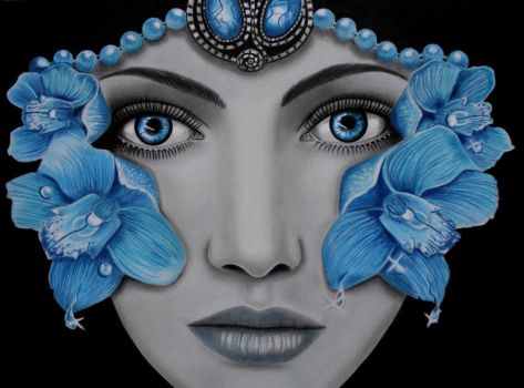 BLUE ORCHID by AngelasPortraits