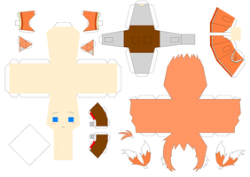 Tails Papercraft Template by Huski-Fan