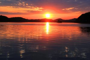 Sunset on Tellico - May 2015 by CrystalMarineGallery
