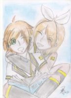 Kagamine Len and Rin by Cool-Kimmy