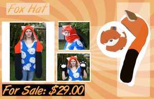 : Fox Hat : FOR SALE by Deviant-Soulmates