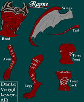 Rayne Demon Form Ref by DanteVergilLoverAR