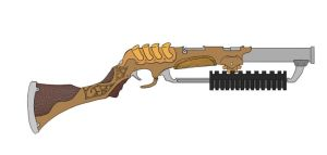 Concept: Steampunk Shotgun by PhantomBlaze