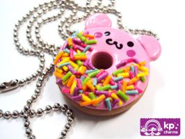pink bear donut by KPcharms