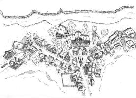 Village. isometric view by Fred73fr