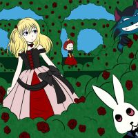 Alice in the Queens Garden by Blackmoonrose13