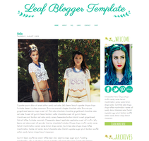 Leaf Blogger Template by tiny-moon