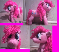 Pinkie Pie the 3rd plushie by Crystal-Dream