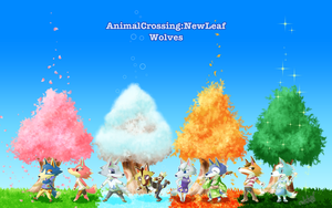 AnimalCrossing:NewLeaf Wolves by akk9s