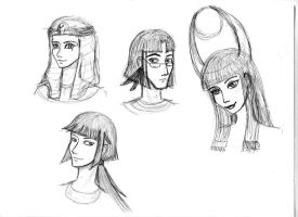 Egyptian Gods Sketches by LittleElvert