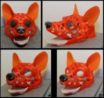 Wolf puppet head with movable eyelids by Tioh