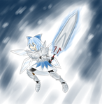 Cirno in Ukanlos Armor by GarlandScarlet