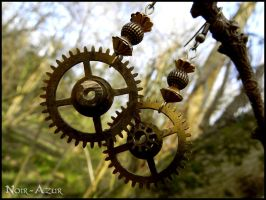 Steampunk earrings by Noir-Azur