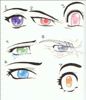 Manga or Anime Eye drawings by Siouxstar