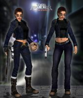 Lara Croft TRAOD - Jeans suit PACK by Larreks