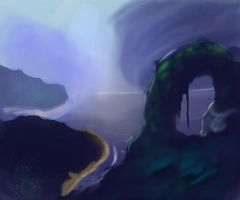 Speed Paint 007 Storm and Islands by ParjanyaVictor