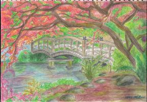 Japanese Garden :Finished: by SpencerGirl