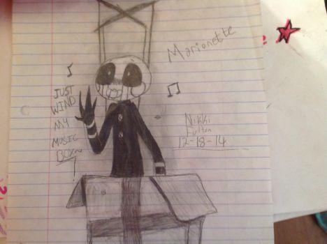 old Marionette Drawing by Eternalli