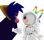 Tippi and Count Bleck - Mario Vampire AU? by PuccaFanGirl