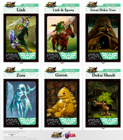 Kid Icarus Uprising X The Legend of Zelda AR Cards by piplupwater