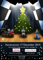 Christmas concert poster by zavraan