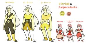 Citrine and Padparadscha by JimPAVLICA