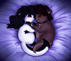 Fuzzy snuggles by snooziewoo