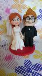 Pixar Up wedding cake topper in polymer c by SimonaZ