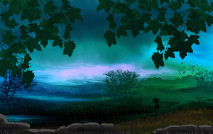 Peaceful Rain by Dianabolique