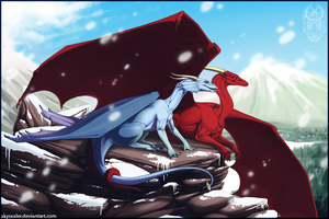 Snow Days - Sketch Commission by Skysealer