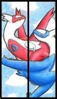Latias and Latios: Bookmarks by holyfox6894