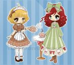 Honey and Annabelle Chibis by YamPuff