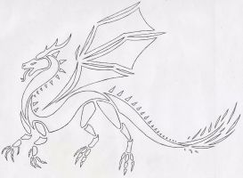 Dragon Lineart by RubyGirl14